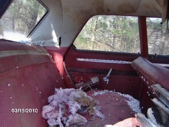Inside car Dodge 330 possessed car