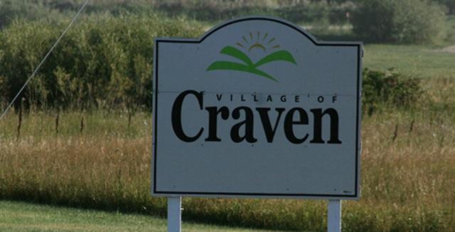 Village of Craven sign