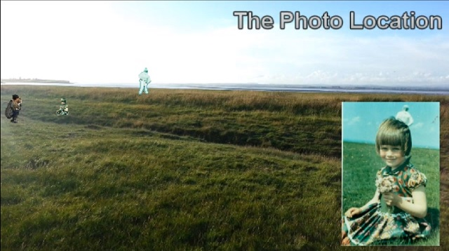 The photo location of the Solway Firth Spaceman
