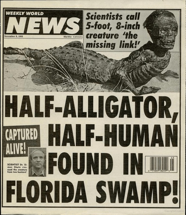 Halfhuman alligator hybrid