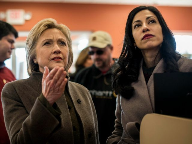 Image: Hillary Clinton with Huma Abedin from Breitbart