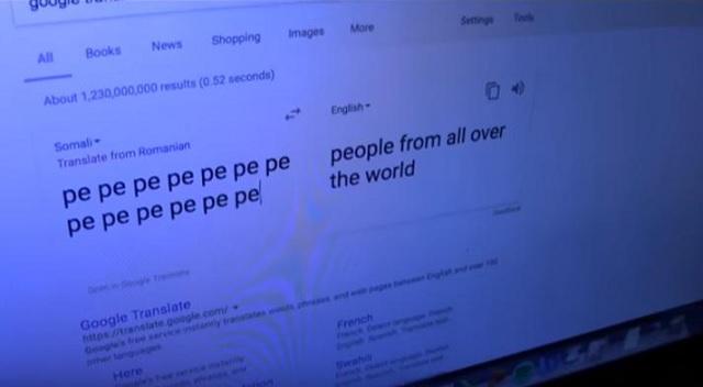 secret messages Google translate pe pe pe pe