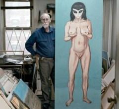 David Huggins alien sex painting