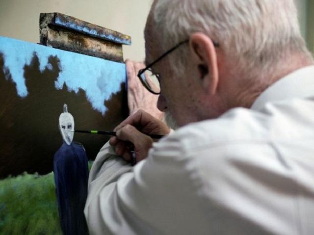 David Huggins painting