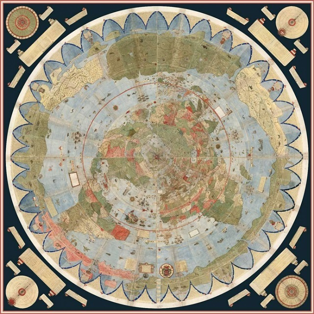 Ancient Early World Map restored