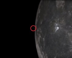 UFO flies from Moon