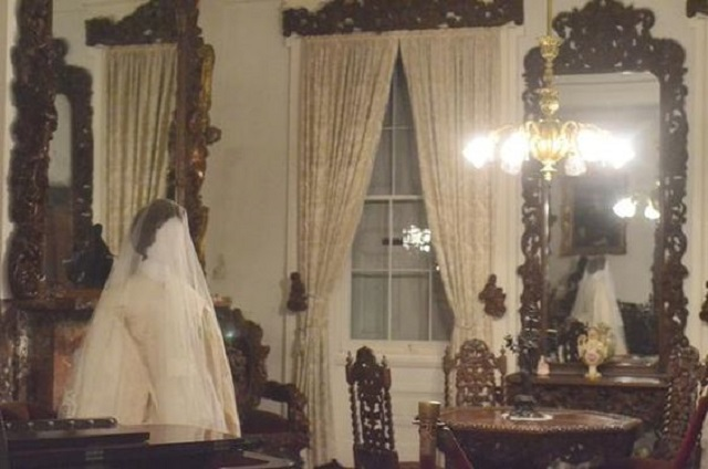 Anna Baker room haunted wedding dress