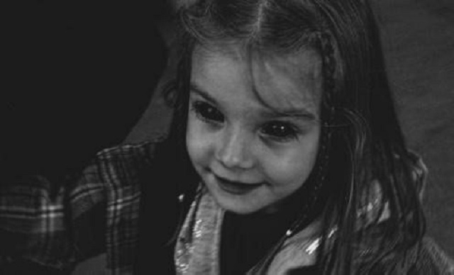 Black Eyed little girl