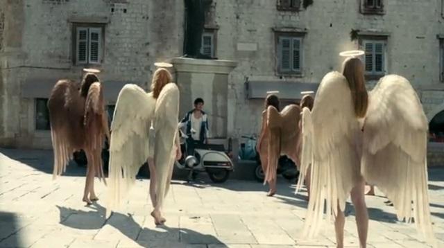 Fallen angels gather around