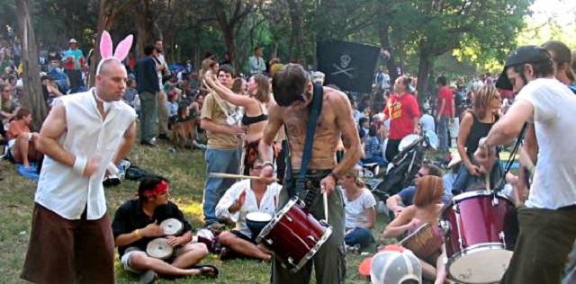 Druid gathering drum circle