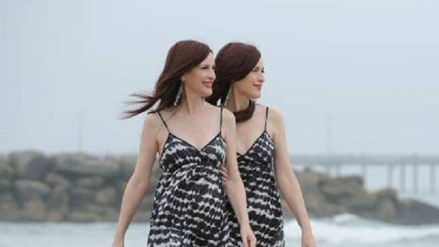 The Psychic Twins outdoors