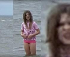 Demonic girl at beach Zandvoort