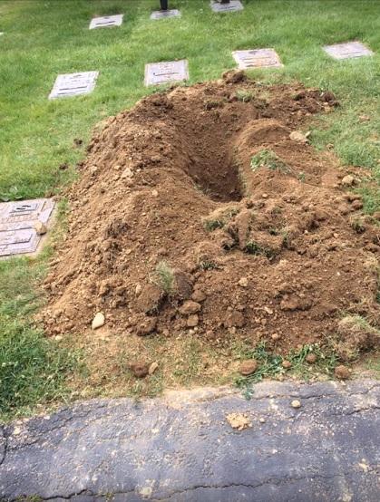 Juvenile Bigfoot Digging In Cemetery