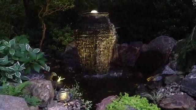 urn at night