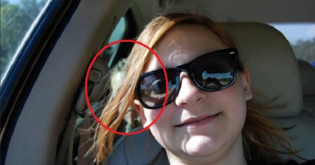 Melissa Kurtz ghost selfie car photo
