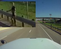 Alien humanoid hitchhiking in Texas