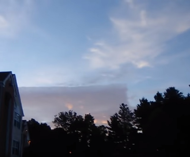 Mysterious square cloud in sky Richmond Virginia