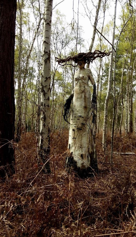 Creepy Tree Woman In Forest