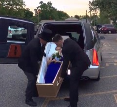 Girl Arrives In Coffin Prom