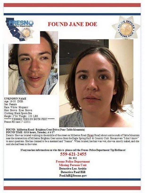 Jane Doe Mermaid Fresno California Found