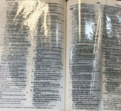Bible dripping with oil