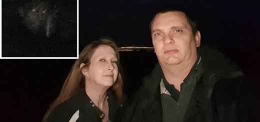 Couple Captures Demonic Monk Face Photo