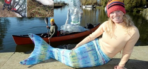 Activist Mermaid Saves Drowning Cow From Doom
