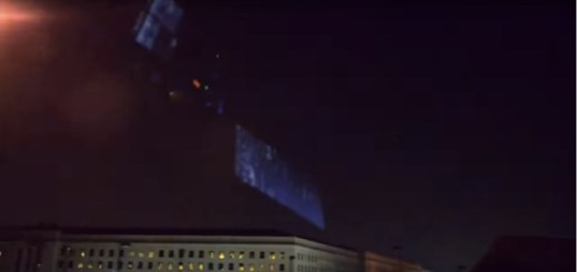 Friends Record UFO Pyramid Over The Pentagon