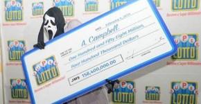 Scream Mask Lottery Winner 158 million
