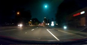 Giant Green Meteor West of Gainesville Florida Caught on Dash Cam