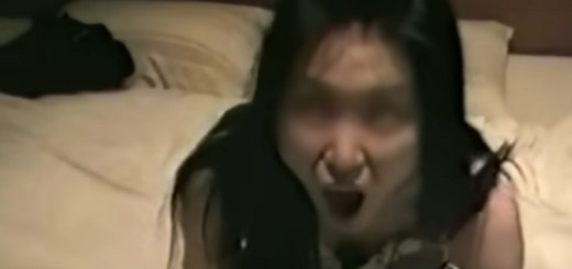 Possessed Or Drugged Asian Girl Screams On Bed Creepily