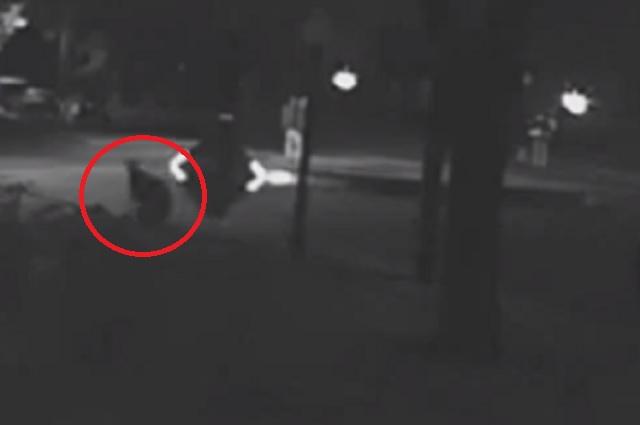 Bizarre CCTV Footage Of A Human Like Figure