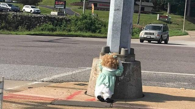 Festus Creepy Doll On Street Missouri