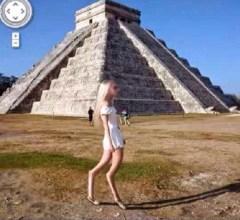 Google Earth Girl Mayan ruin Chichen Itza Mexico