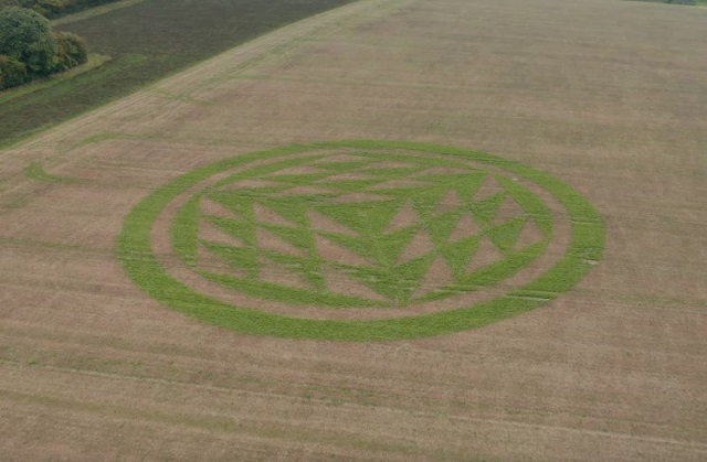 Mysterious Autumn Crop Circle Appears