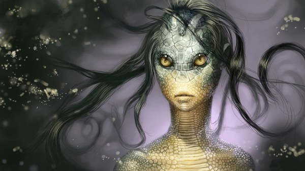 Alien reptilian woman