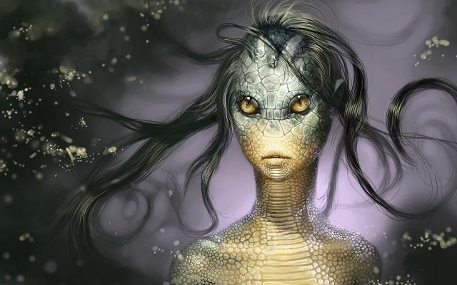 Alien reptilian woman