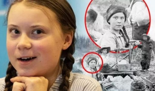 Greta Thunberg seen in 120 year old photograph