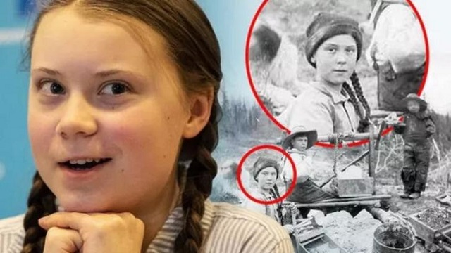 Greta Thunberg seen in 120 year old photograph