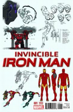 INVINCIBLE IRON MAN #1 Marquez design variant cover