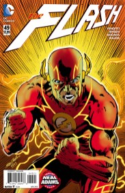 THE FLASH #49 Neal Adams cover