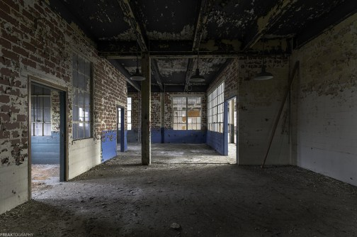 Urban exploration of an abandoned building