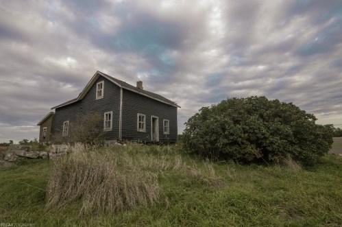 Abandoned Ontario house in rural Ontario