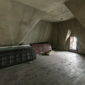 vacant funeral home attic