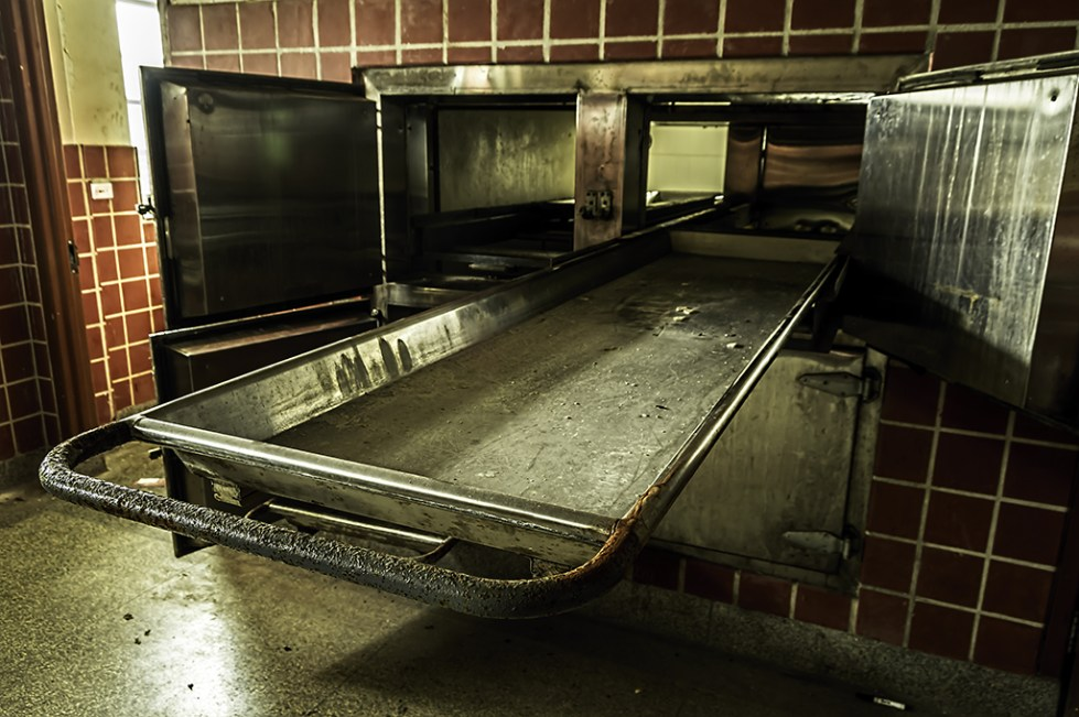 Abandoned Psychiatric Hospital Morgue by Freaktography