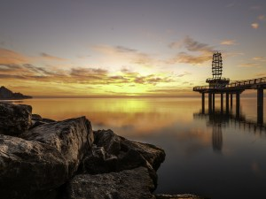 Burlington Ontario Pier Sunrise Print