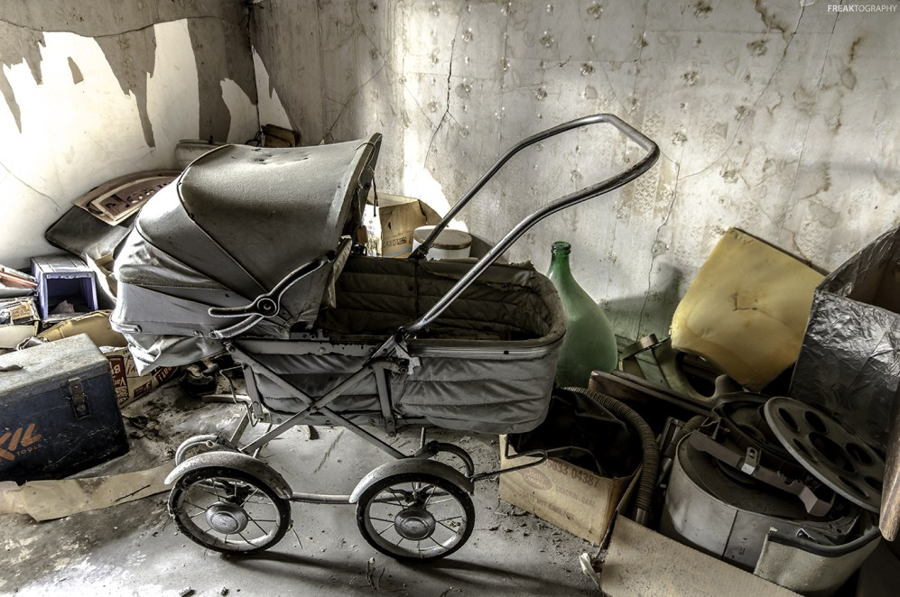 Antique Pram Abandoned House