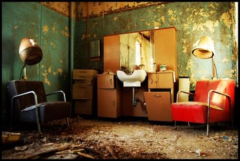 abandoned insane asylum beauty salon