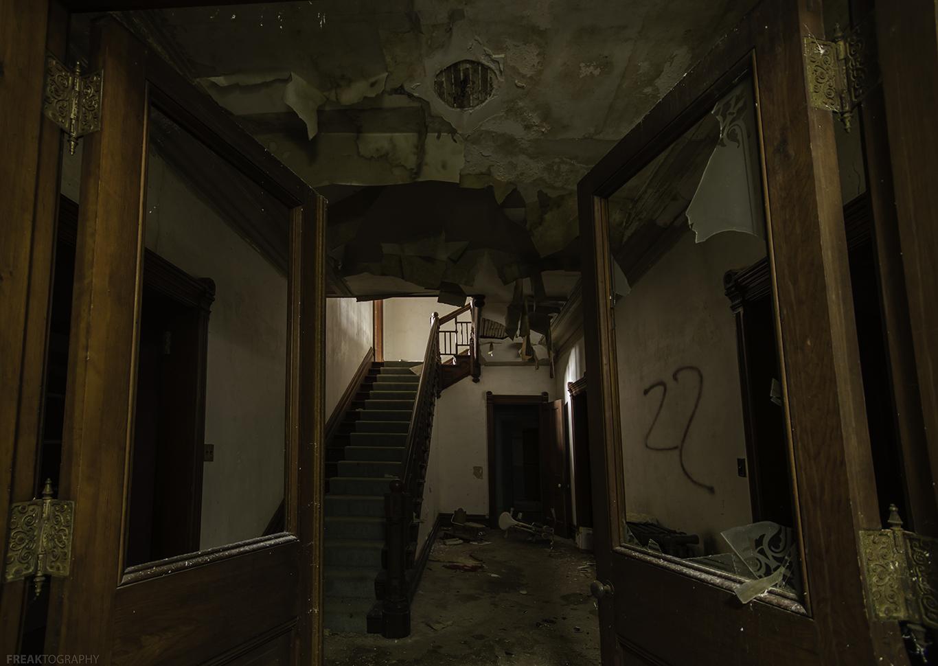 Doorway in an abandoned house in Ontario.