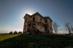 A creepy old farmhouse in Ontario.